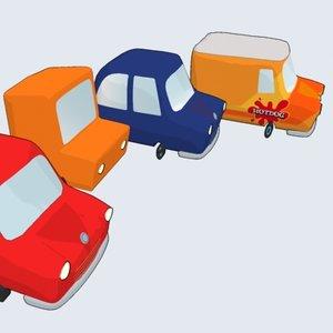 maya cartoon car -