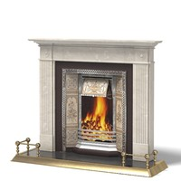fireplace classic english 3d model