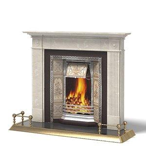 fireplace classic english 3d model