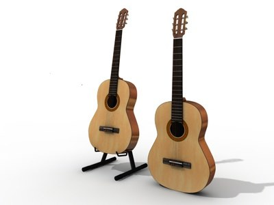cinema4d acoustic guitar