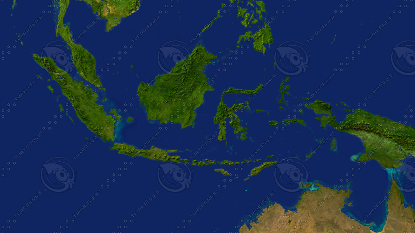 3d indonesia maps