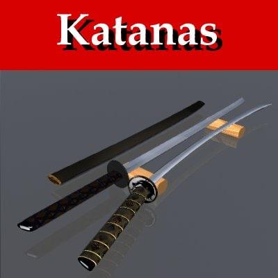 3d katanas blade model