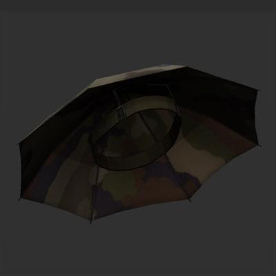 obj army umbrella hat