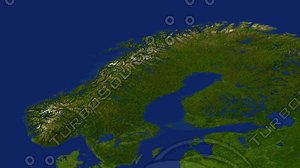 norway maps 3d max