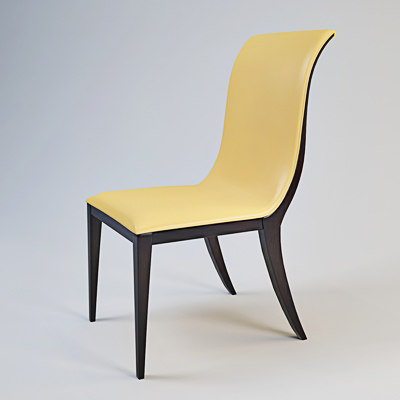3d oak design chair