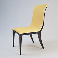 3d oak design chair