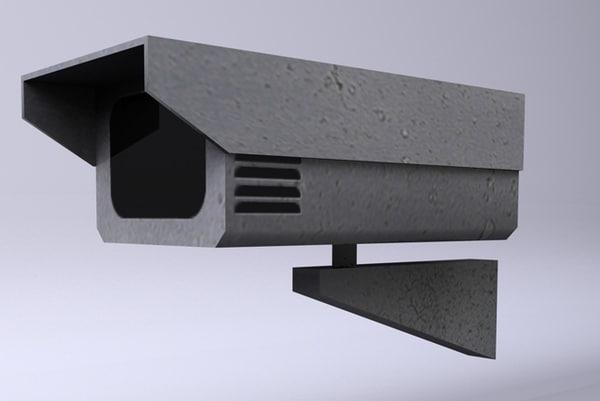 camera vigilancia 3d model