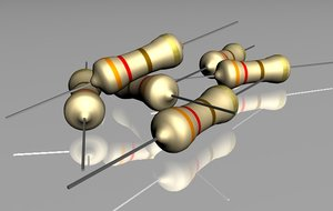resistance electronic 3d model