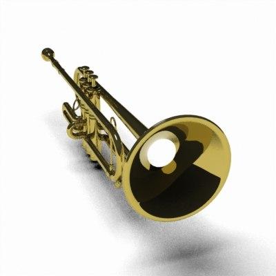 3d model trumpet