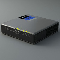 3d model router modem linksys
