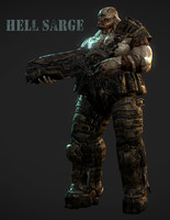 hell sarge monster character 3d model