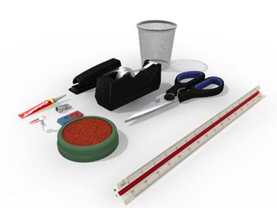 office supplies 3d model