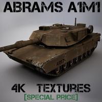 3d model abrams tank