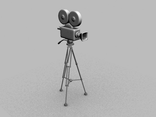 oldstyle movie camera old 3d max