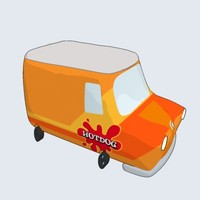 cartoonish van 3d model