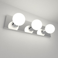 3d bathroom vanity light
