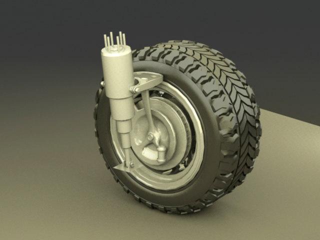 3ds max car wheel engine