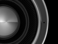 speaker woofer 3d model