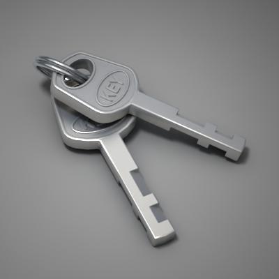 key lock 3d model