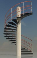 3dsmax stair outdoor
