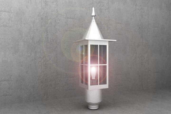 antique luminaire kv52 3d model