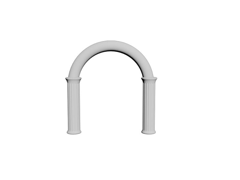architectural arch 3d model