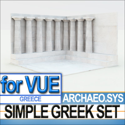 3ds max environment doric columns simple