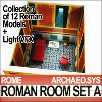 Ancient Roman Room Set A [12 Models+Candle Flame VFX]