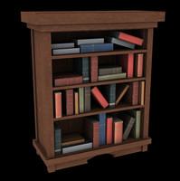 bookshelf cartoony 3d model