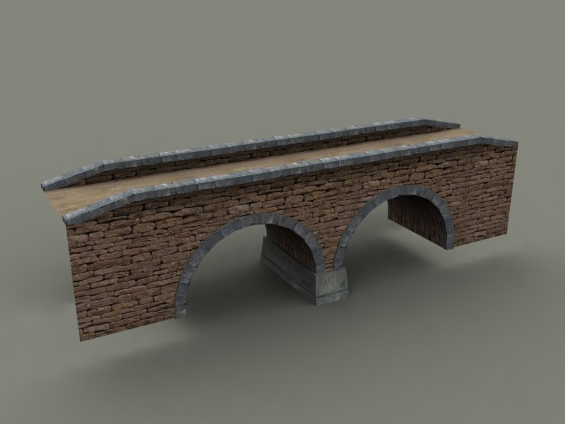 stone bridge old 3d model