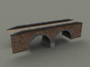 stone bridge old 3d model