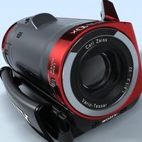 camcorder sony hdr-cx100er multiformat c4d