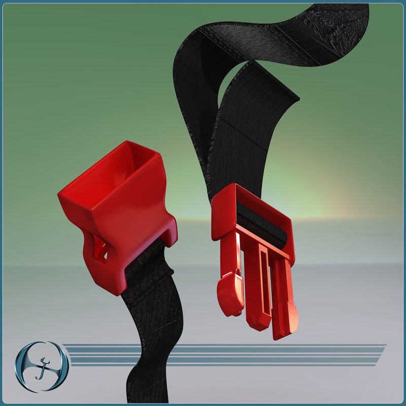 3d model plastic buckle