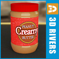3d peanut butter jar model
