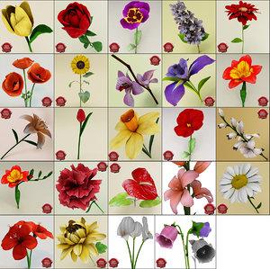 3d flowers v3