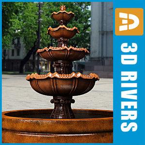 3d model tier fountain