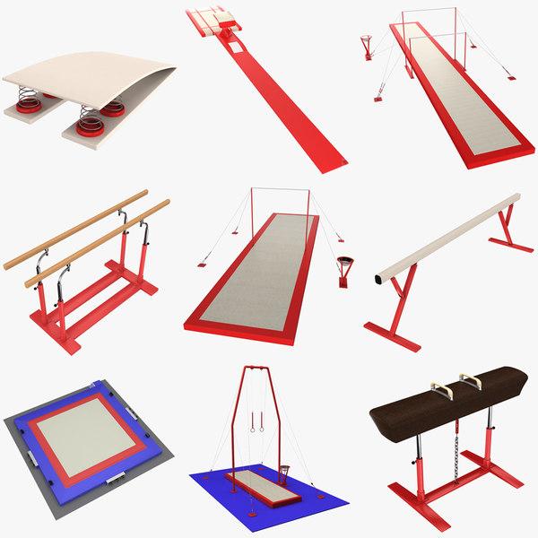 gymnastics equipment 3d model