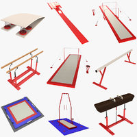 gymnastics equipment 3d model