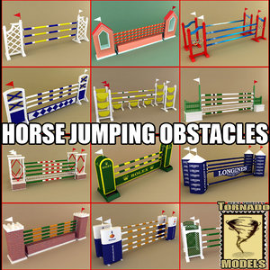3d horse jumping obstacles model