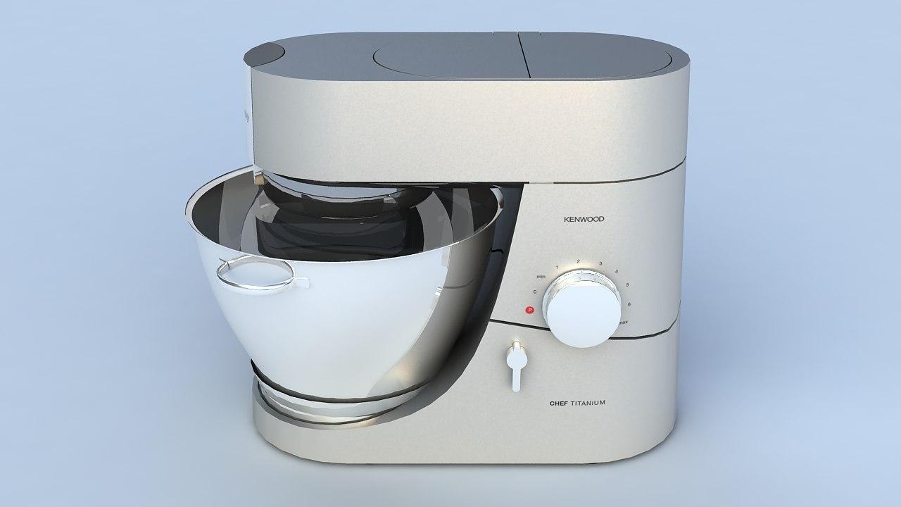 kenwood food mixer 3d model