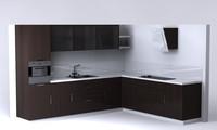 kitchen units corner 3d model