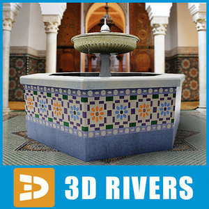 ismail fountain moulay 3d model