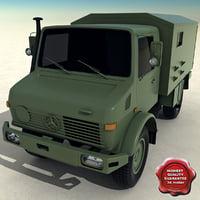 3d model mercedes-benz unimog u1300l