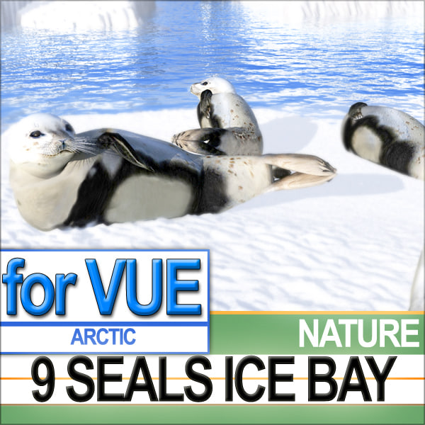 3ds 9 arctic seals sea