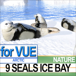 3ds 9 arctic seals sea