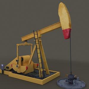 oilpump rig animation max