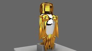 3d model bubo owl