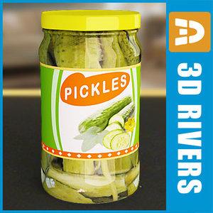 pickles jar 3ds