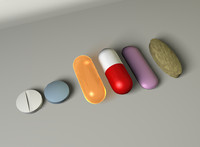 3d model of pills medication