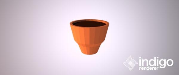 3d plantpot pot plant